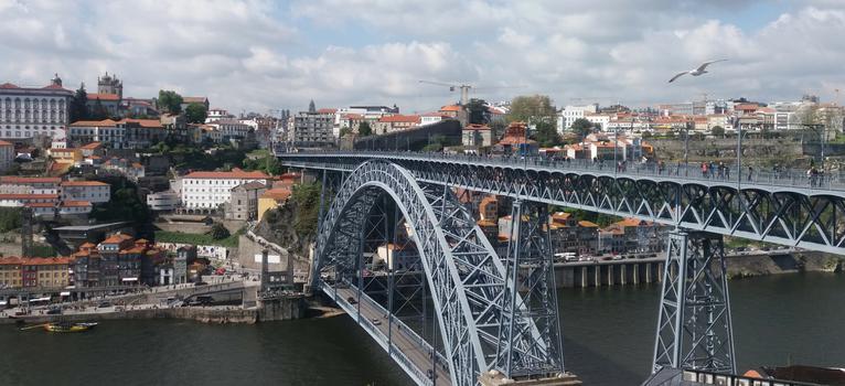 Podul Dom Luis. Porto. Portugalia.