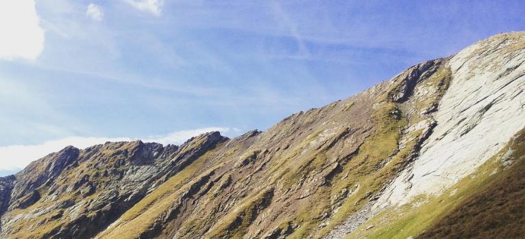 Varful Lespezi (2517m) văzut din Șaua Lespezi. Ca o himeră!
